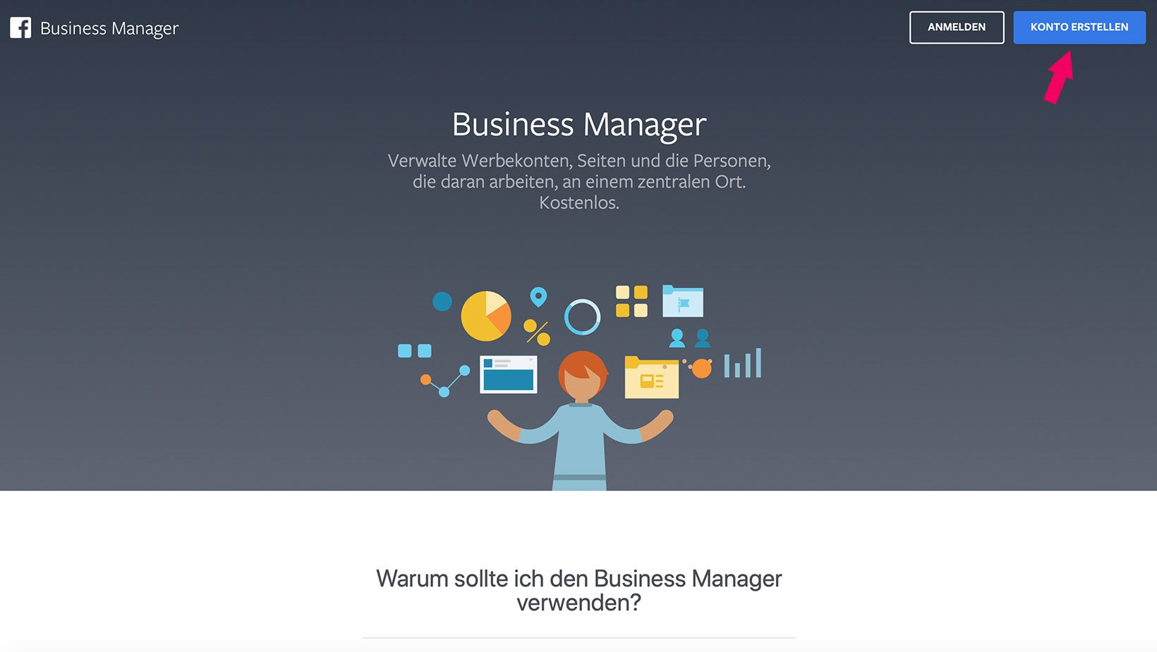 Business Manager Konto erstellen