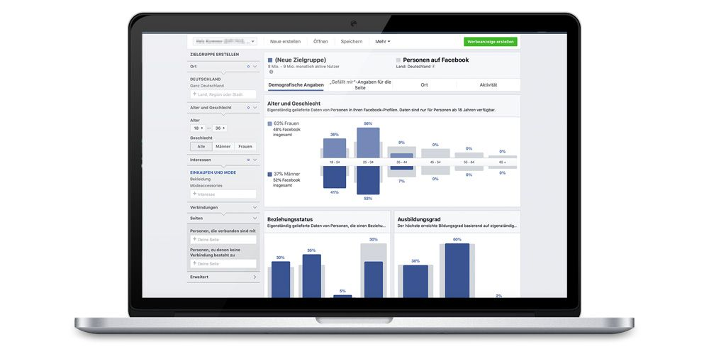 Business Manager Zielgruppen Insights