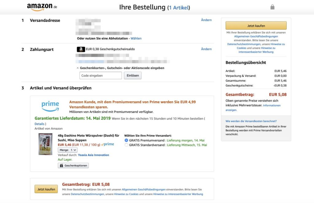 Amazon Landing Page Beispiel