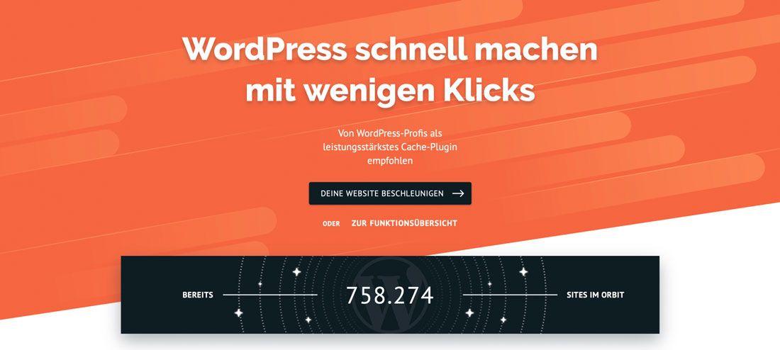 Mit WP Rocket eine Website für Google PageSpeed schneller machen
