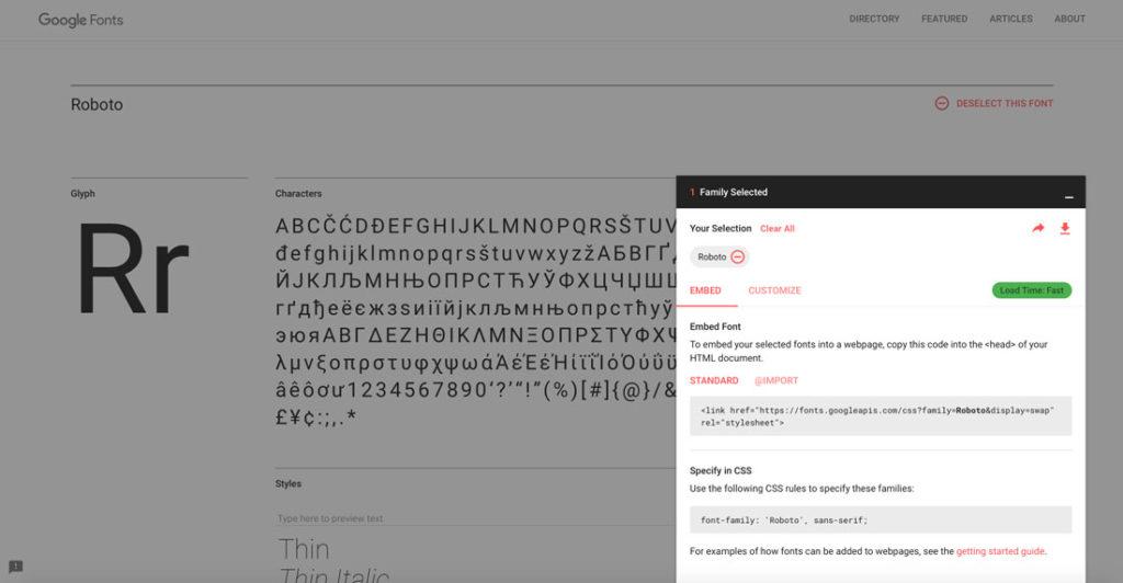 Google Fonts Ladezeiten