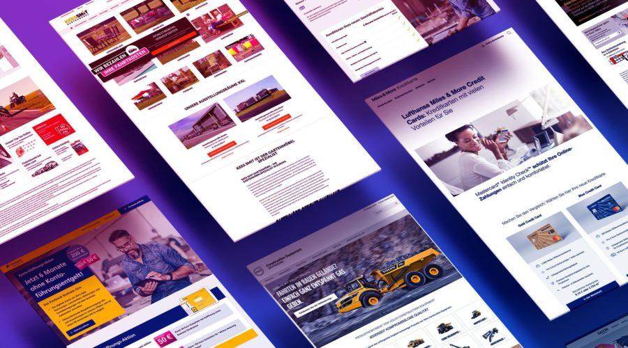 Landing Page Beispiele deutsch