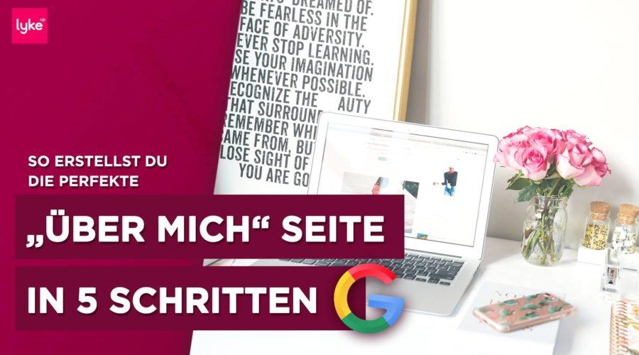 """""""Über mich"""" Seite Anleitung, Beispiele und Vorlagen"""