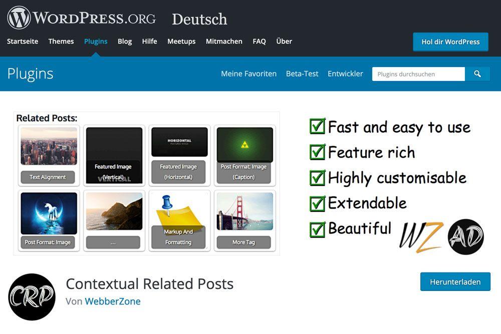 Contextual Related Posts hilft dir bei der internen Verlinkung für mehr Besucher deiner Website