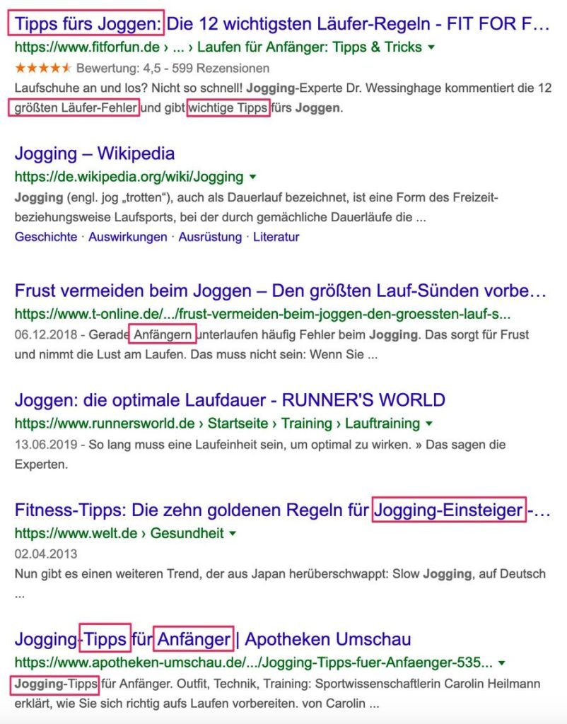 Blogposts Joggen