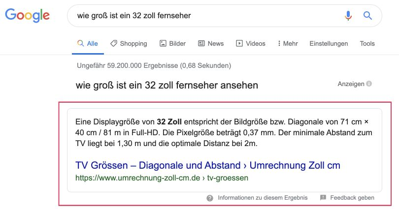 Featured Snippets im Content Marketing erhalten