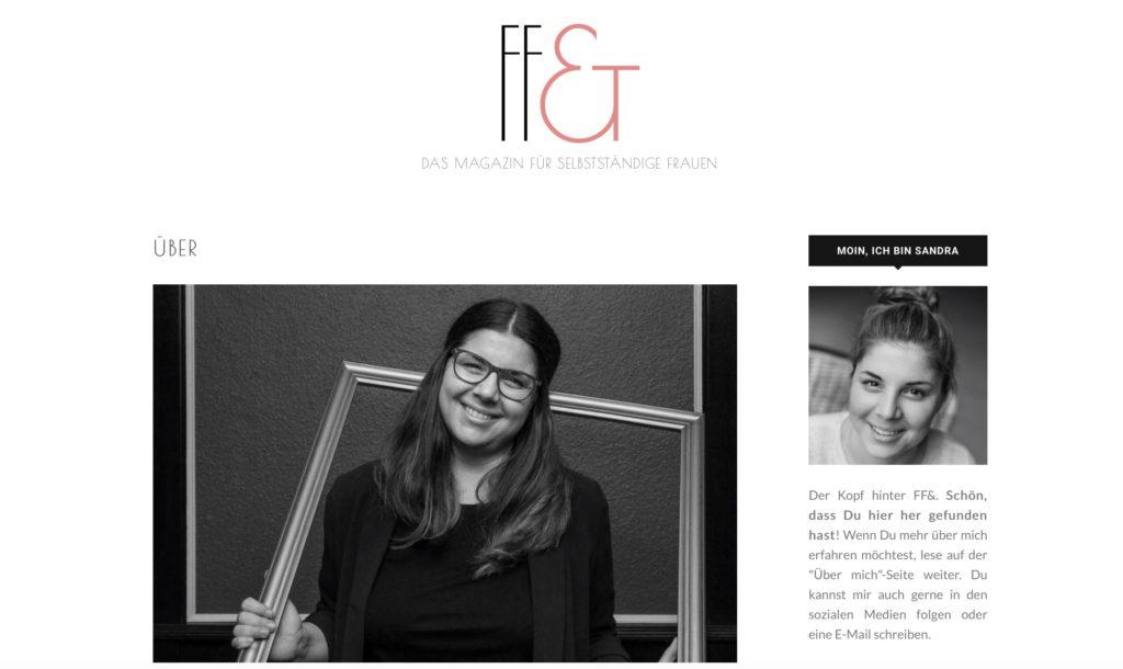 Über mich Seite eines erfolgreichen Blogs