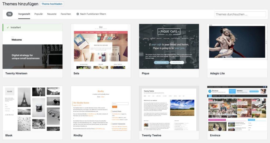 Wordpress als Plattform zum Bloggen