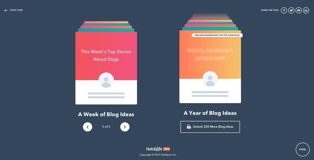 Blogthemen Generator mit Themen