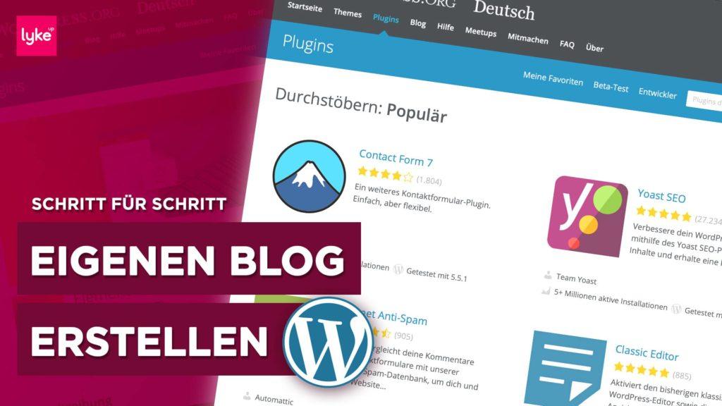 Blog erstellen - komplette Anleitung