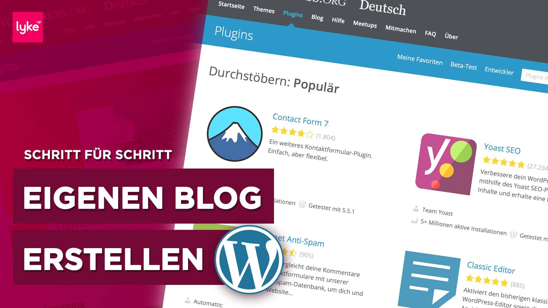 Eigenen Blog erstellen