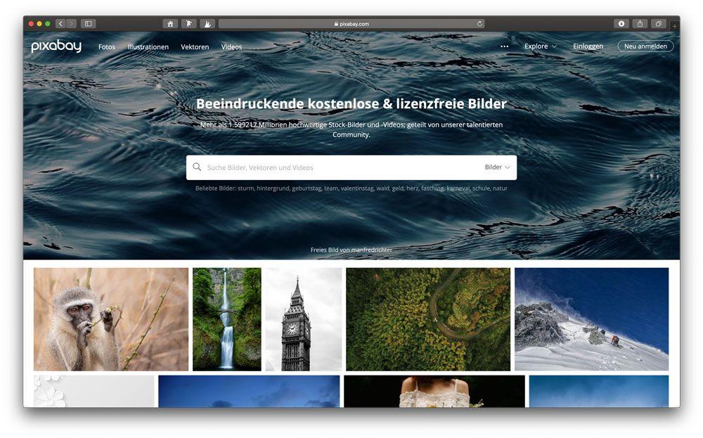 Lizenzfreie Bilder gratis beim Deutschen Photostock Pixabay.