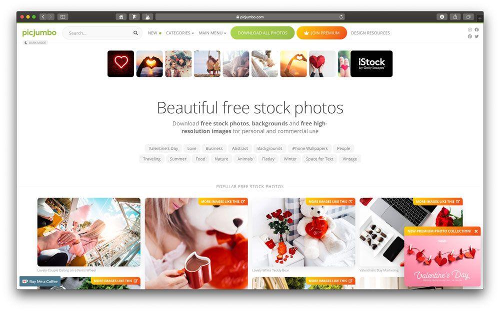 Picjumbo bietet täglich neue kostenlose Stock Fotos zum Download an.