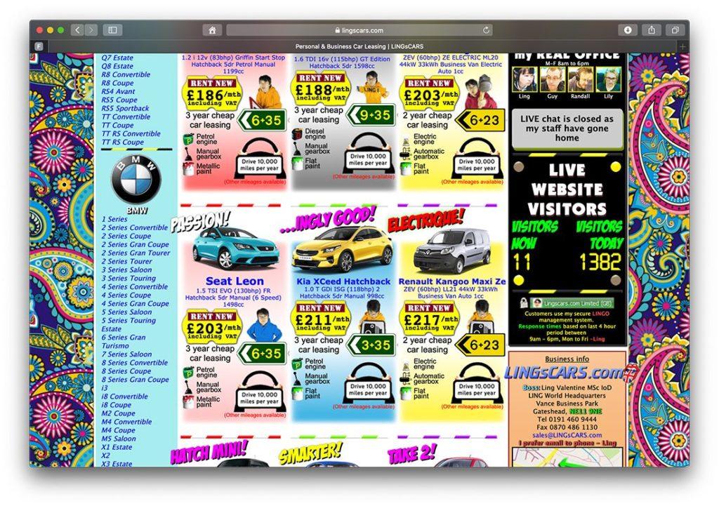 Schlechte Usability auf Website von Autohändler