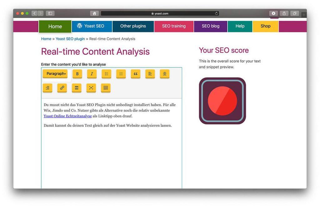 Echtzeit Content Analyse online