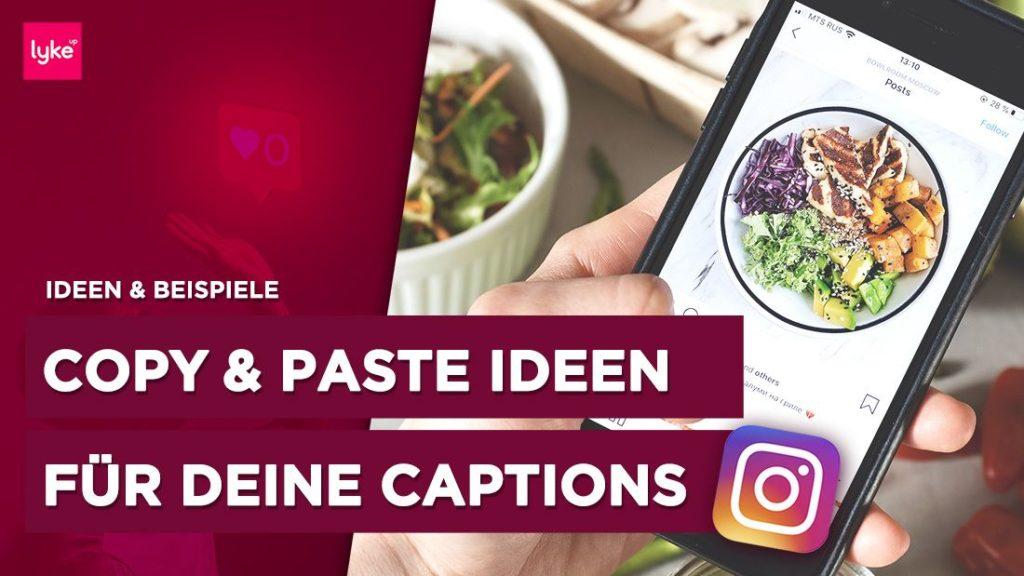Beispiele und Ideen für Instagram Bildunterschriften