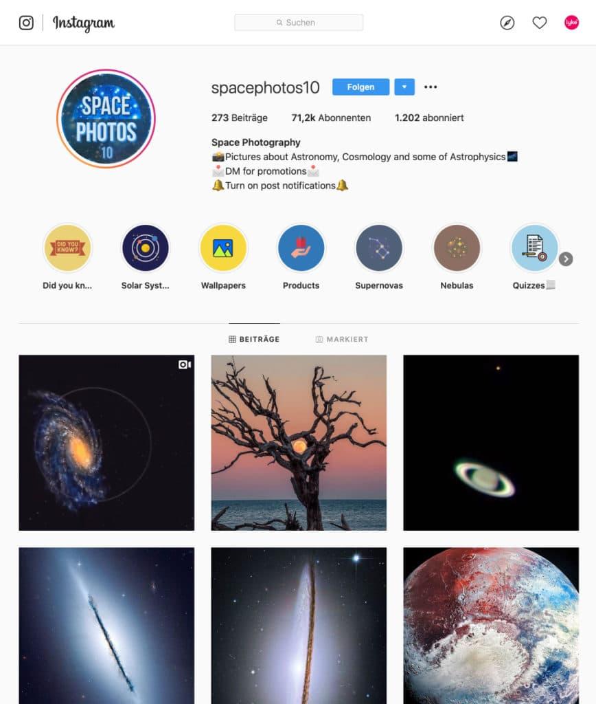 Die thematische Relevanz deines Instagram Accounts steigern, um mehr Reichweite und Likes zu bekommen.