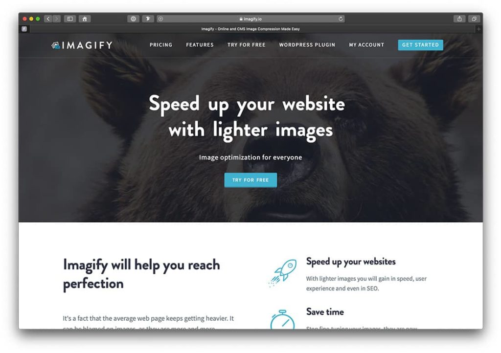 Imagify komprimiert die Bilder deiner WordPress Website.